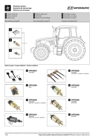 Massey Ferguson Catalogue - Electronic Components by The Vapormatic