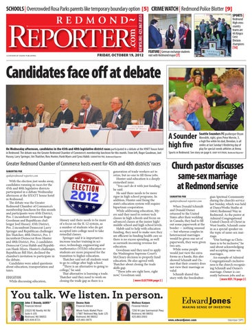 Redmond Reporter, October 19, 2012 by Sound Publishing - issuu