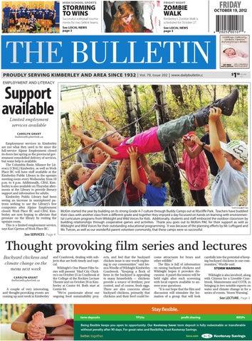 Kimberley Daily Bulletin, October 19, 2012 by Black Press