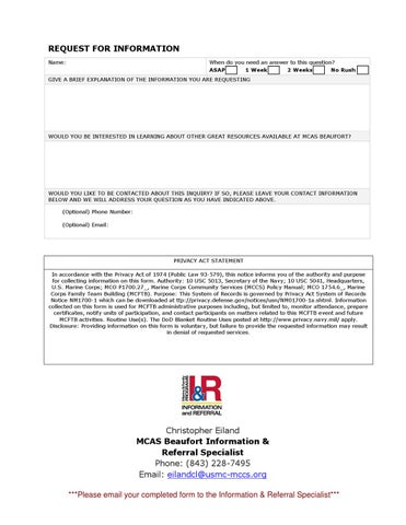 Information Request Form By Christopher Eiland  Issuu