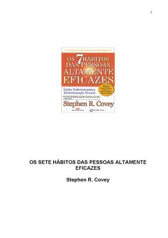 612e86c529617 Os 7 Hábitos das Pessoas Altamete Eficazes by Sidney Sales - issuu