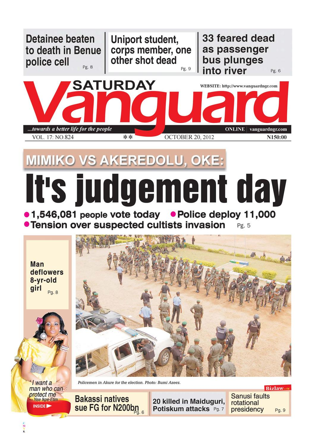 It's judgement day by Vanguard Media Limited - issuu