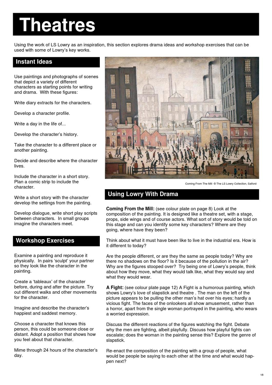 Teachers Resource Pack | The Lowry by The Lowry - issuu