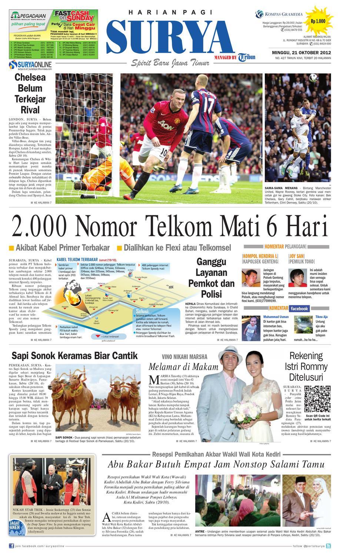 E Paper Surya Edisi 21 Oktober 2012 By Harian Issuu Jeep Jpw61802 Jam Tangan Pria Hitam Merah