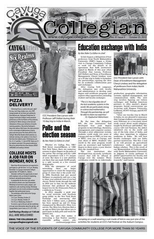 10-23-12 CAYUGA COLLEGIAN VOL. 61 ISSUE 4