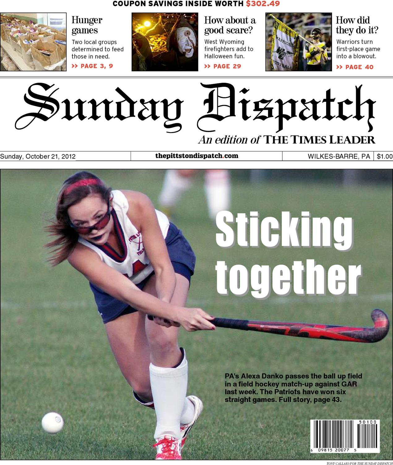 The Pittston Dispatch 10-21-2012 by The Wilkes-Barre Publishing Company -  issuu