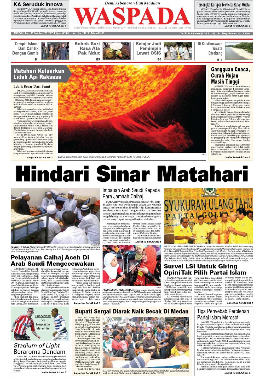 Waspada Minggu 21 Oktober 2012 By Harian Issuu Zaskia Mecca Fae Tunik Tembaga