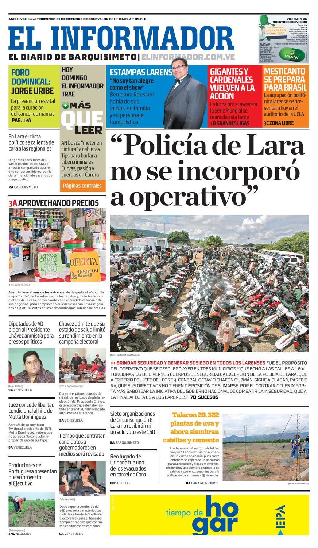 El Informador 2012.10.21 by El Informador - Diario online Venezolano ...