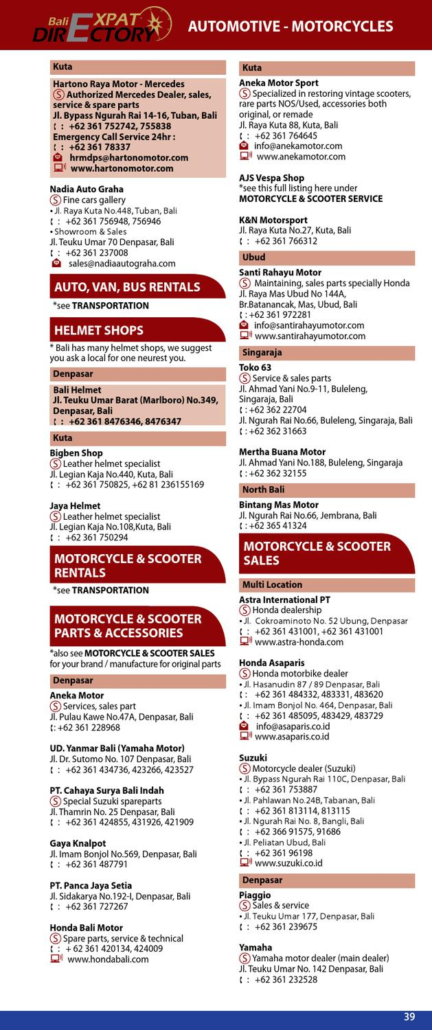 """bali business directory """"expat edition"""" 2012/2013 beta eversion"""