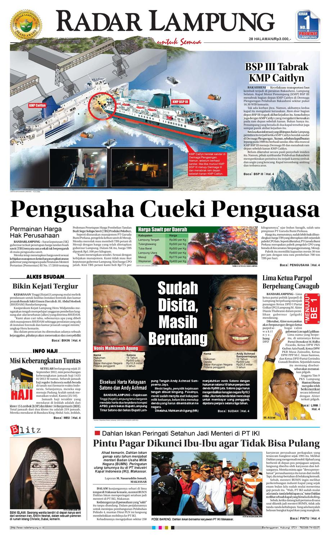 Radar Lampung Senin 22 Oktober 2012 By Ayep Kancee Issuu Produk Ukm Bumn Mumtaz Cane 93 Original