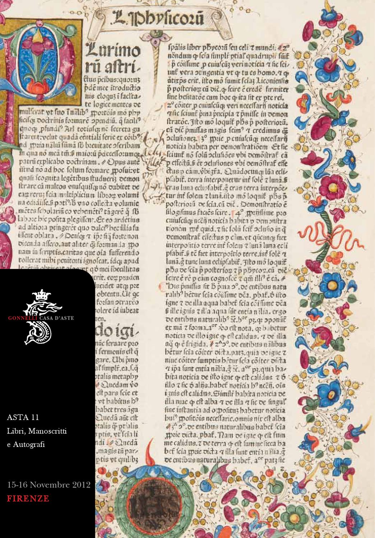 Asta 0011 Libri Manoscritti E Autografi Books Manuscripts And