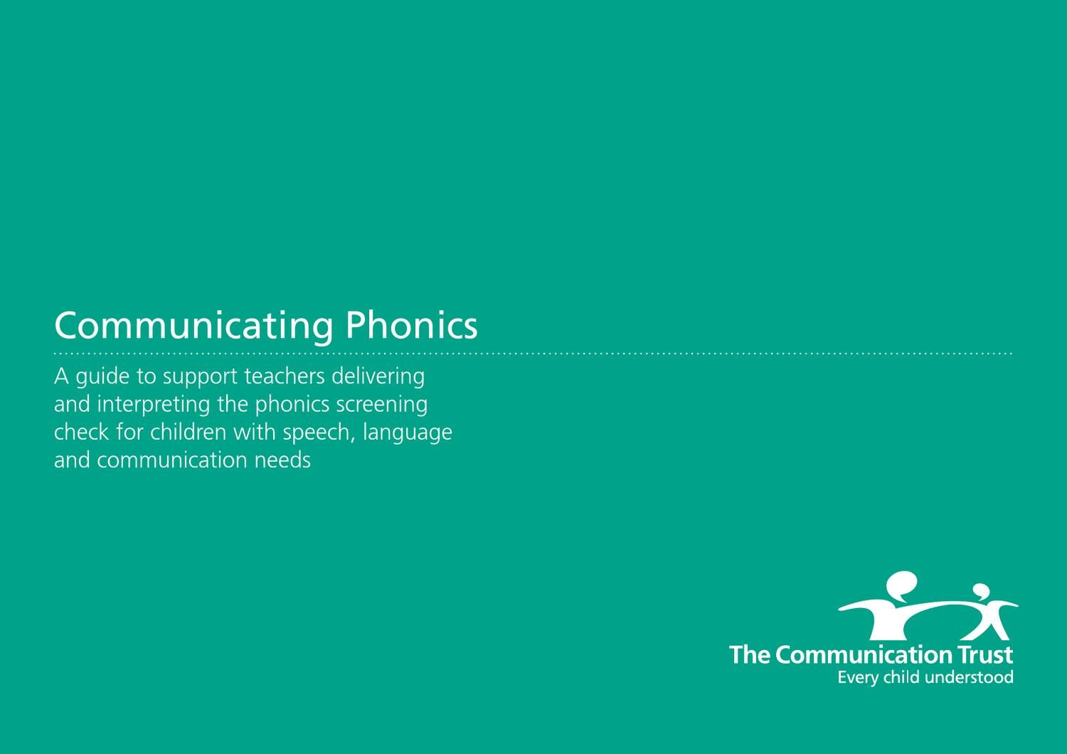 Communicating Phonics by ICIS : information for life - issuu