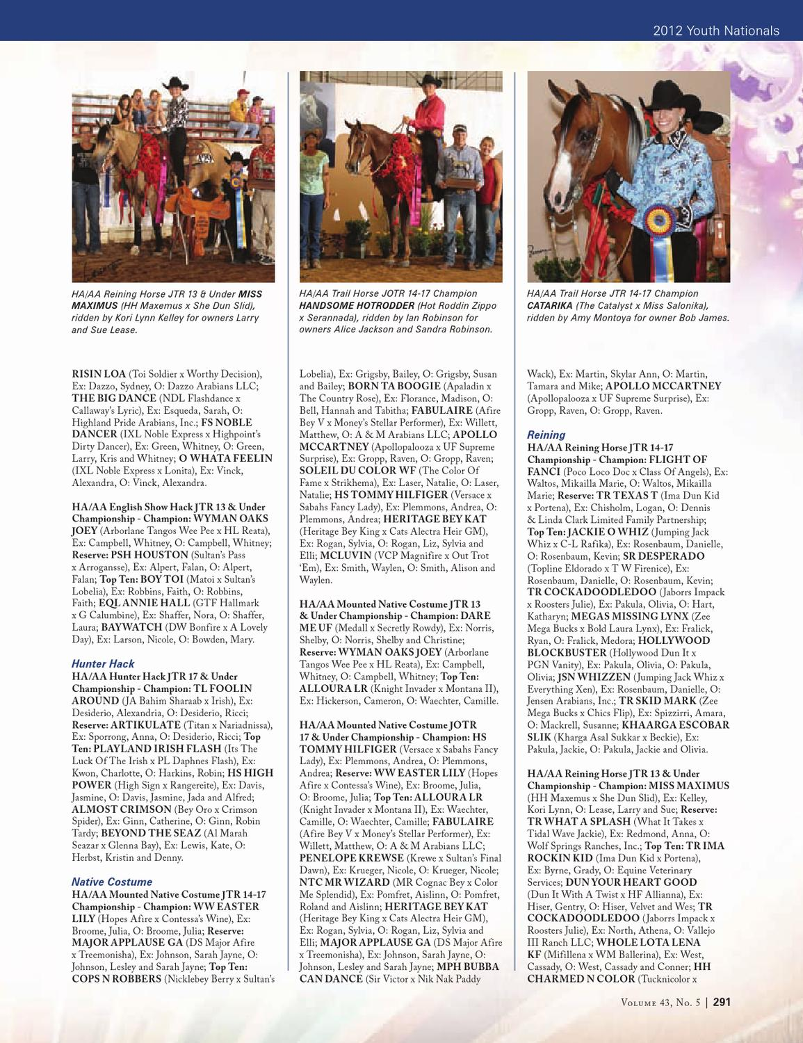 Arabian Horse Times Vol  43, No  5 by Arabian Horse Times - issuu