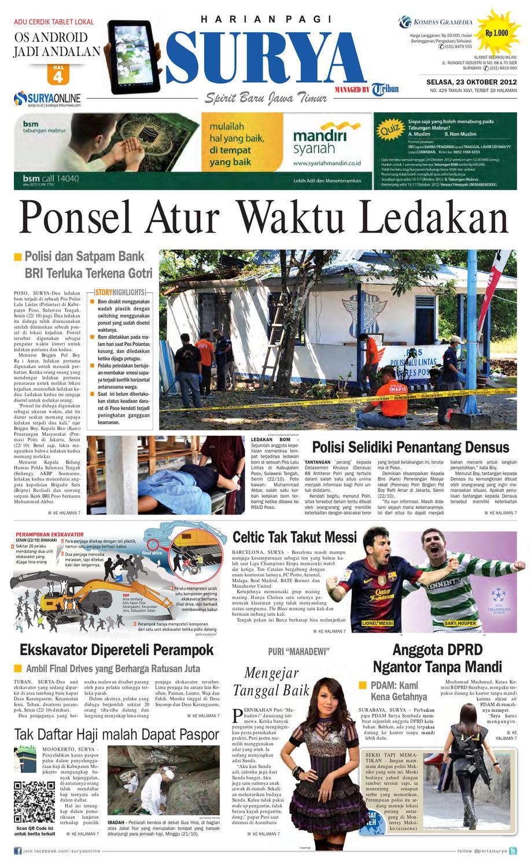 E Paper Surya Edisi 23 Oktober 2012 By Harian SURYA Issuu