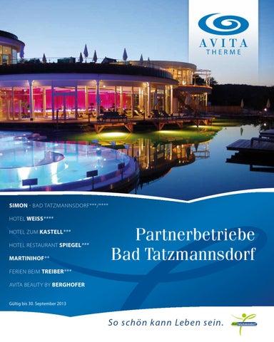 Thermenpartner folder bad tatzmannsdorf by seier gmbh issuu - Spiegel bad tatzmannsdorf ...