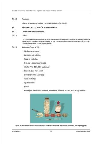 Manual de Parasitologia -I N S by Milton William Shupingahua Laynes ...