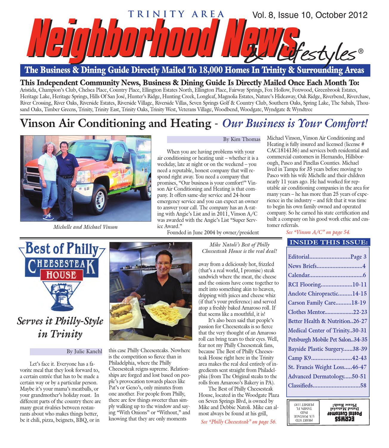 Trinity - Vol  8, Issue 10, October 2012 by Tampa Bay News