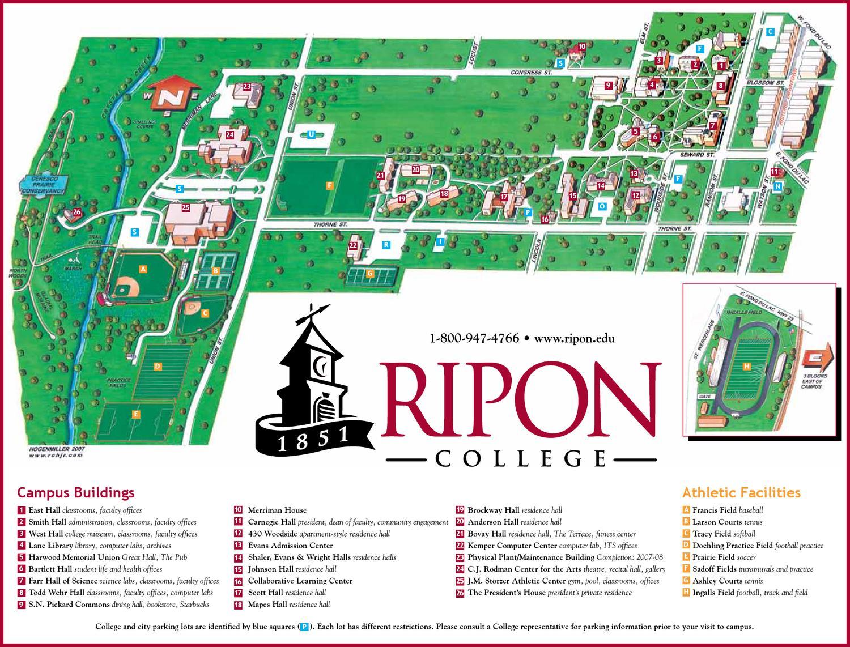 ripon college campus map Campusmap By Ripon College Issuu ripon college campus map