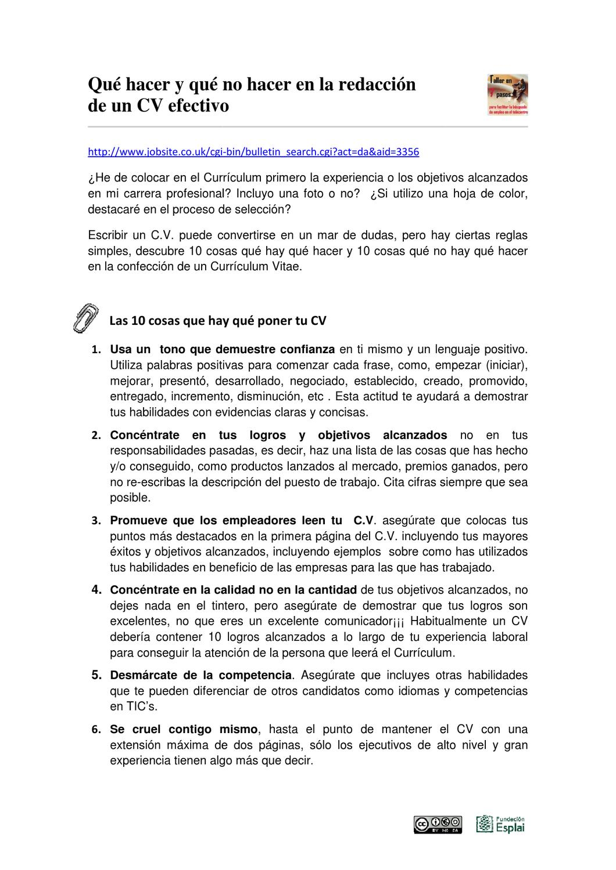 NO HACER EN LA CARTA DE PRESENTACION by ANA VILLEN - issuu
