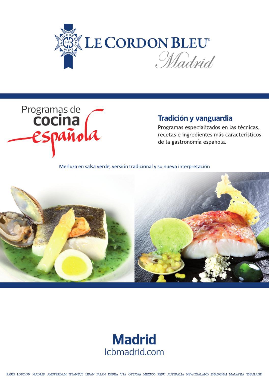 Le cordon bleu madrid programas de cocina espa ola by le for Programas de cocina