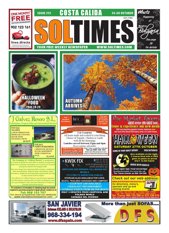 c08a988623c Sol Times Newspaper issue 251 Costa calida Edition by nigel judson ...
