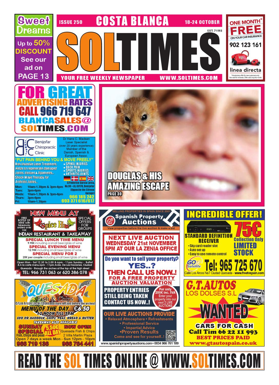Sol Times Newspaper Issue 251 Costa Blanca Edition By Nigel Judson  # Muebles Namaste