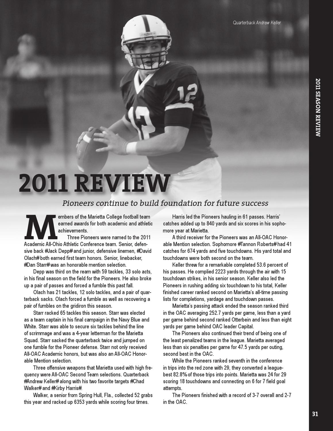 2012 Marietta College Football Yearbook by Marietta ...