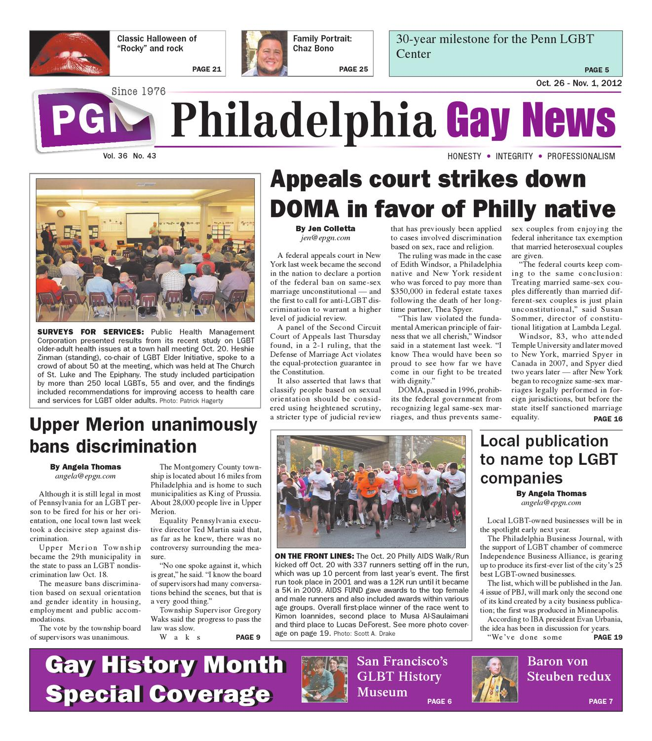PGN 10 26 12 11 1 12 edition by The Philadelphia Gay News issuu