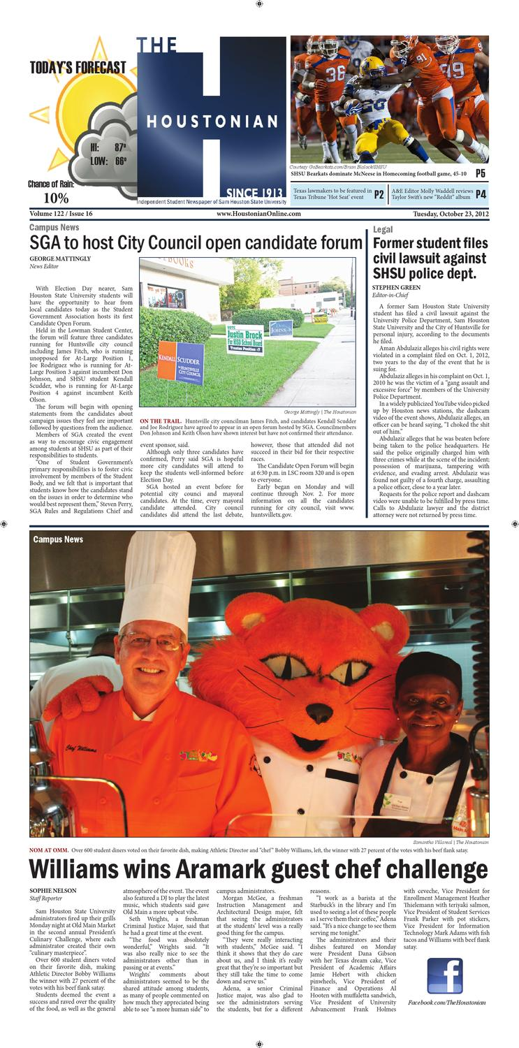October 25, 2012 by The Houstonian - issuu