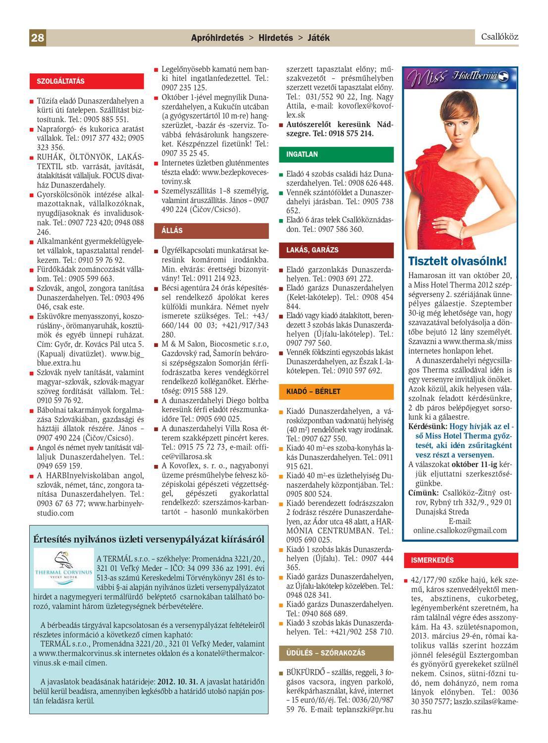 ab1b1cf6e662 Csallóköz 2012/39.szám by Csallokozonline SK - issuu