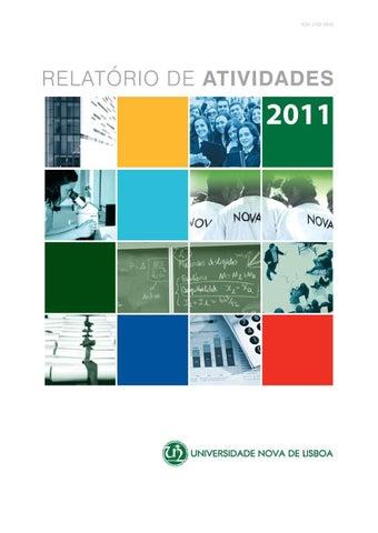 Relatório de Atividades 2011 by Universidade Nova - issuu 572e406951f