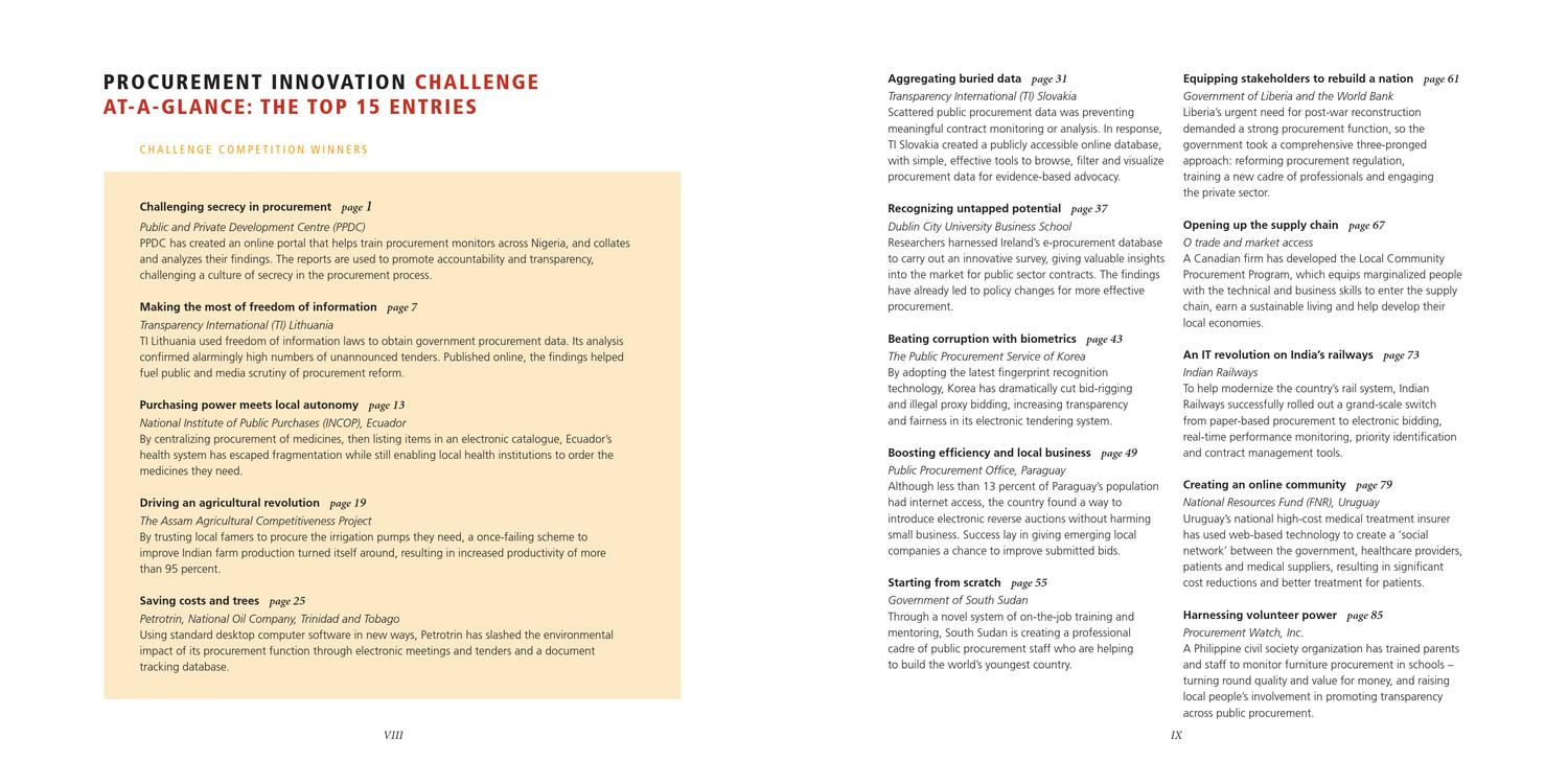 Procurement Innovation Challenge Publication by Norma Garza