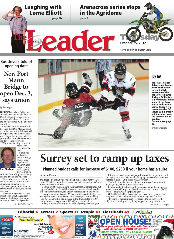 Surrey North Delta Leader, October 25, 2012 by Black Press