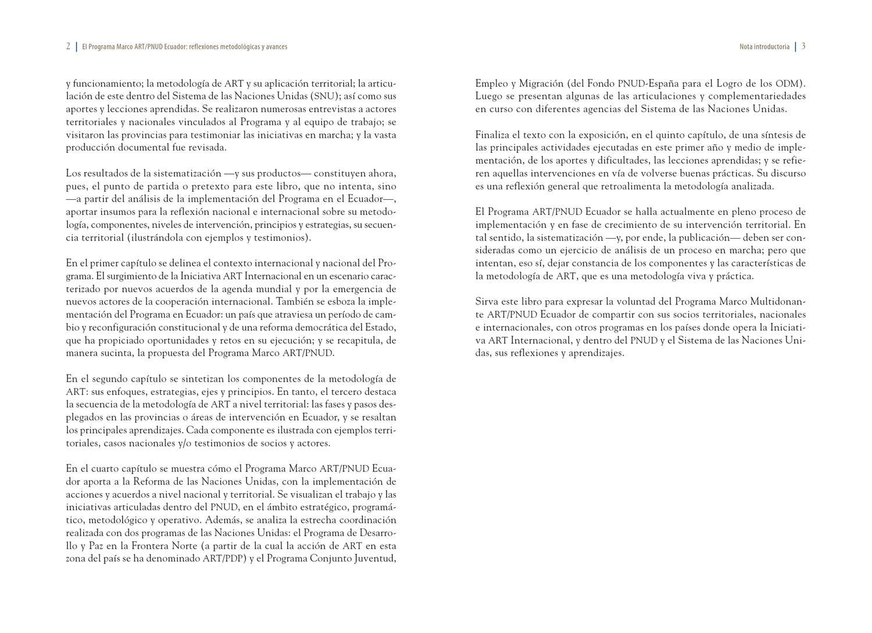 El Programa Marco ART/PNUD Ecuador by UNDP ART Initiative - issuu