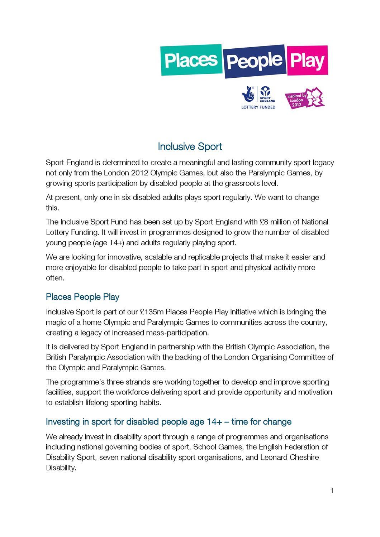 InclusiveSportProspectus by Totnes Gardening For Health - issuu