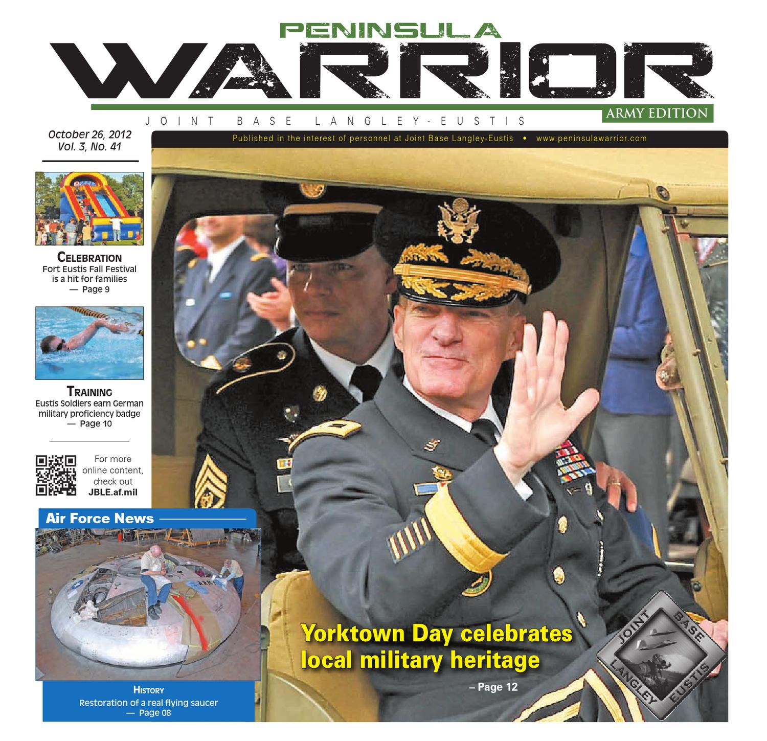 Peninsula Warrior Oct  26, 2012 Army Edition by Military News - issuu