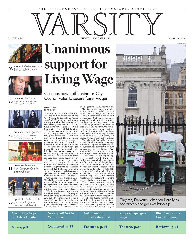 49b279ba3ee0 Varsity Issue 761 by Varsity Publications Ltd - issuu