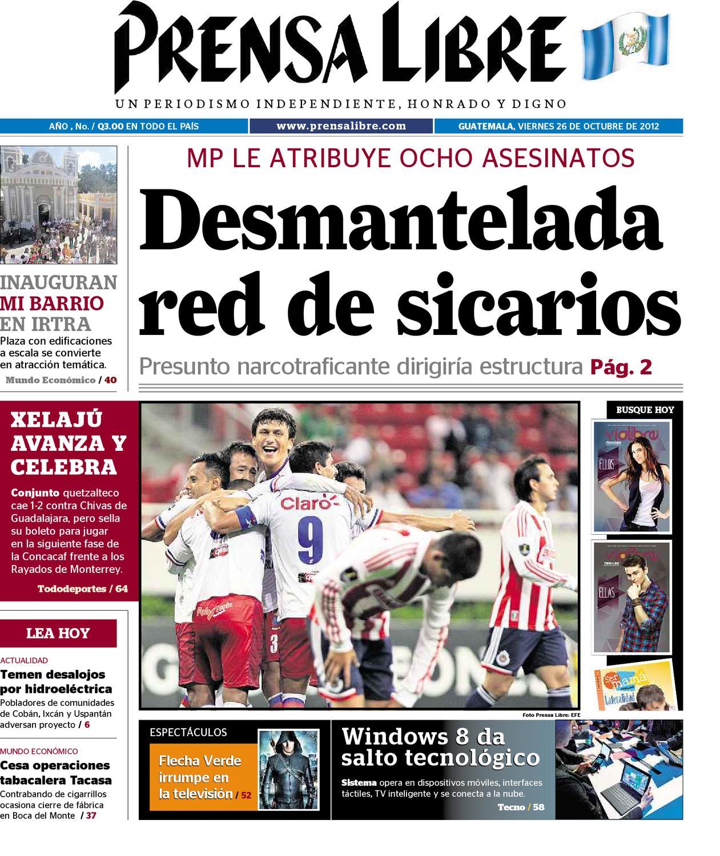 Pdf 26102012 by prensa libre issuu for Noticias del espectaculo mexicano del dia de hoy