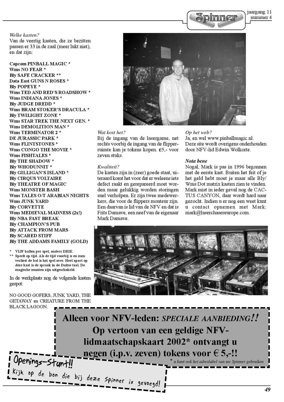 2002 04 Spinner Magazine By Nederlandse Flipper