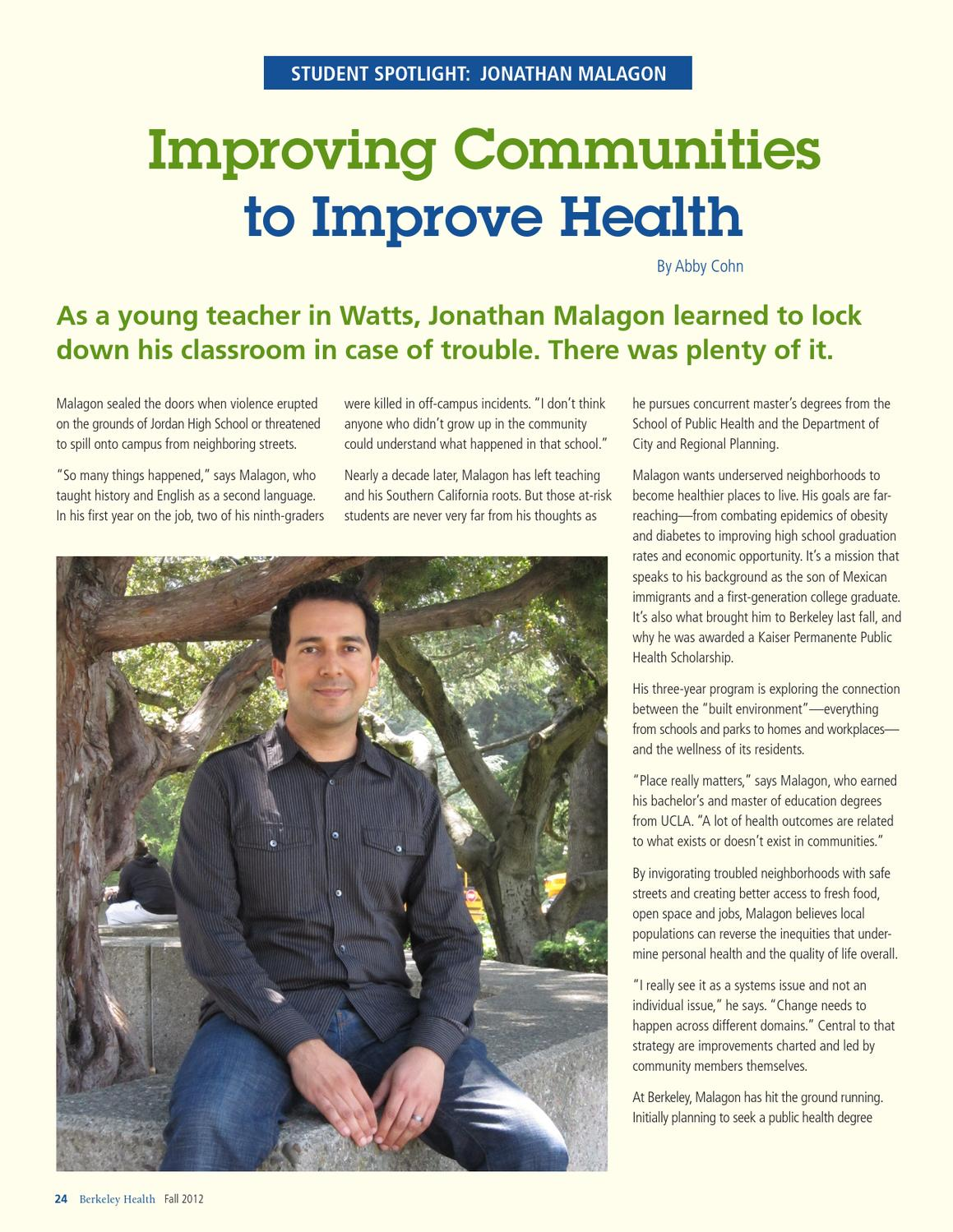 Fall 2012 - Close the Health Gap - Berkeley Health by UC
