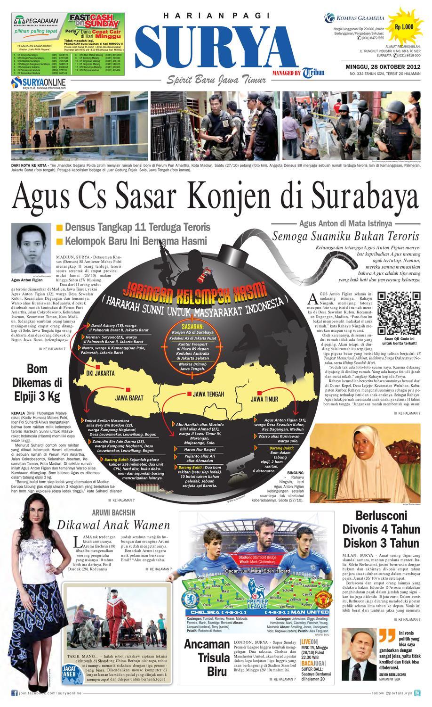 E Paper Surya Edisi 28 Oktober 2012 By Harian Issuu Boneka Panggung Orang Anak Laki Anton