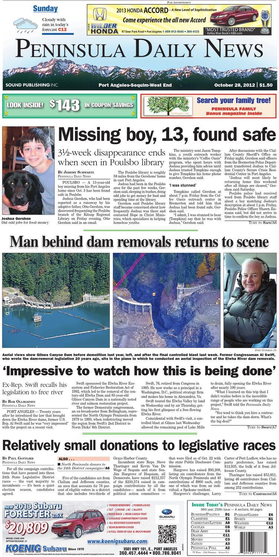 Pdn20121028c By Peninsula Daily News Sequim Gazette Issuu