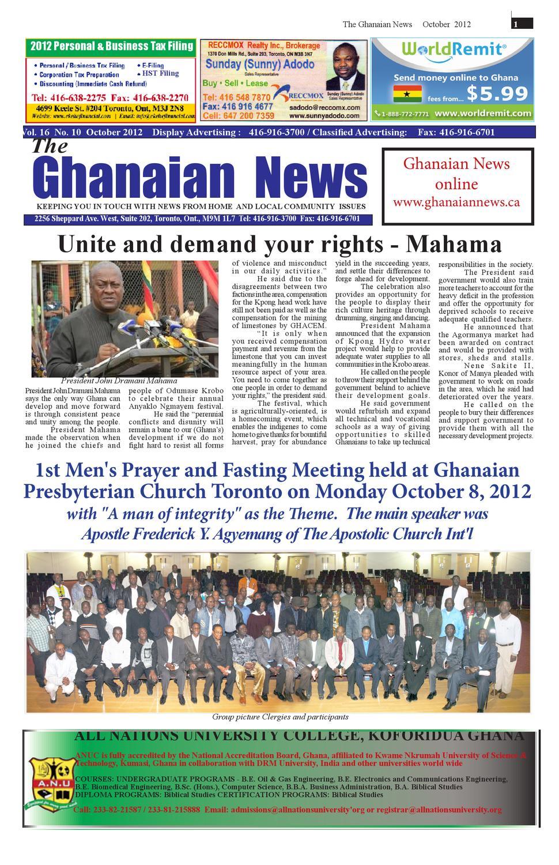 Ghanaian News - October 2010 Edition by Emmanuel Ayiku - issuu