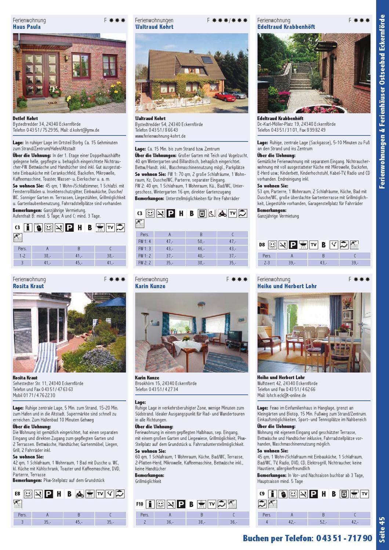 Gastgeberverzeichnis Eckernförder Bucht 2013 by Ostsee-Holstein ...