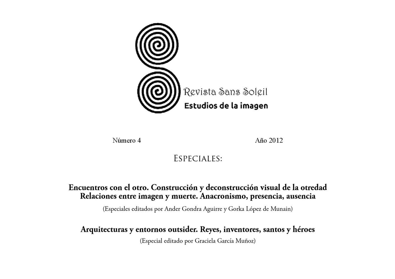 Número 4 De La Revista Sans Soleil Estudios De La Imagen