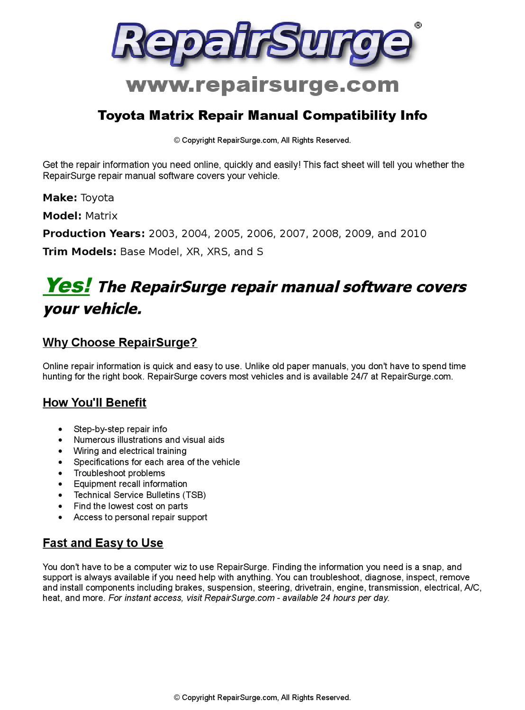 Visual Matrix training Manual