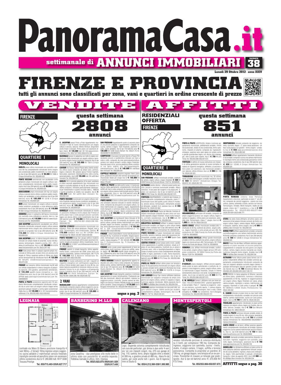 Firenze Annunci 2012 38 Del 29 10 2012 By Edizioni Panorama