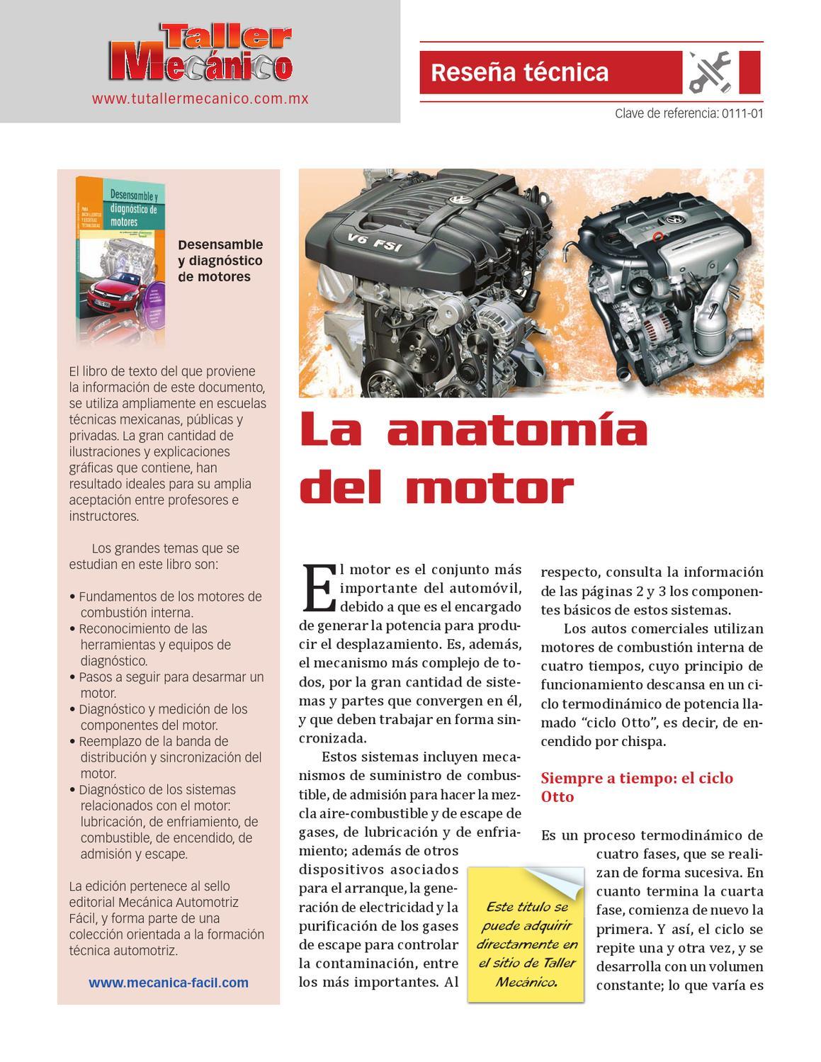 La anatomía del motor by Tu Taller Mecánico Editores - issuu