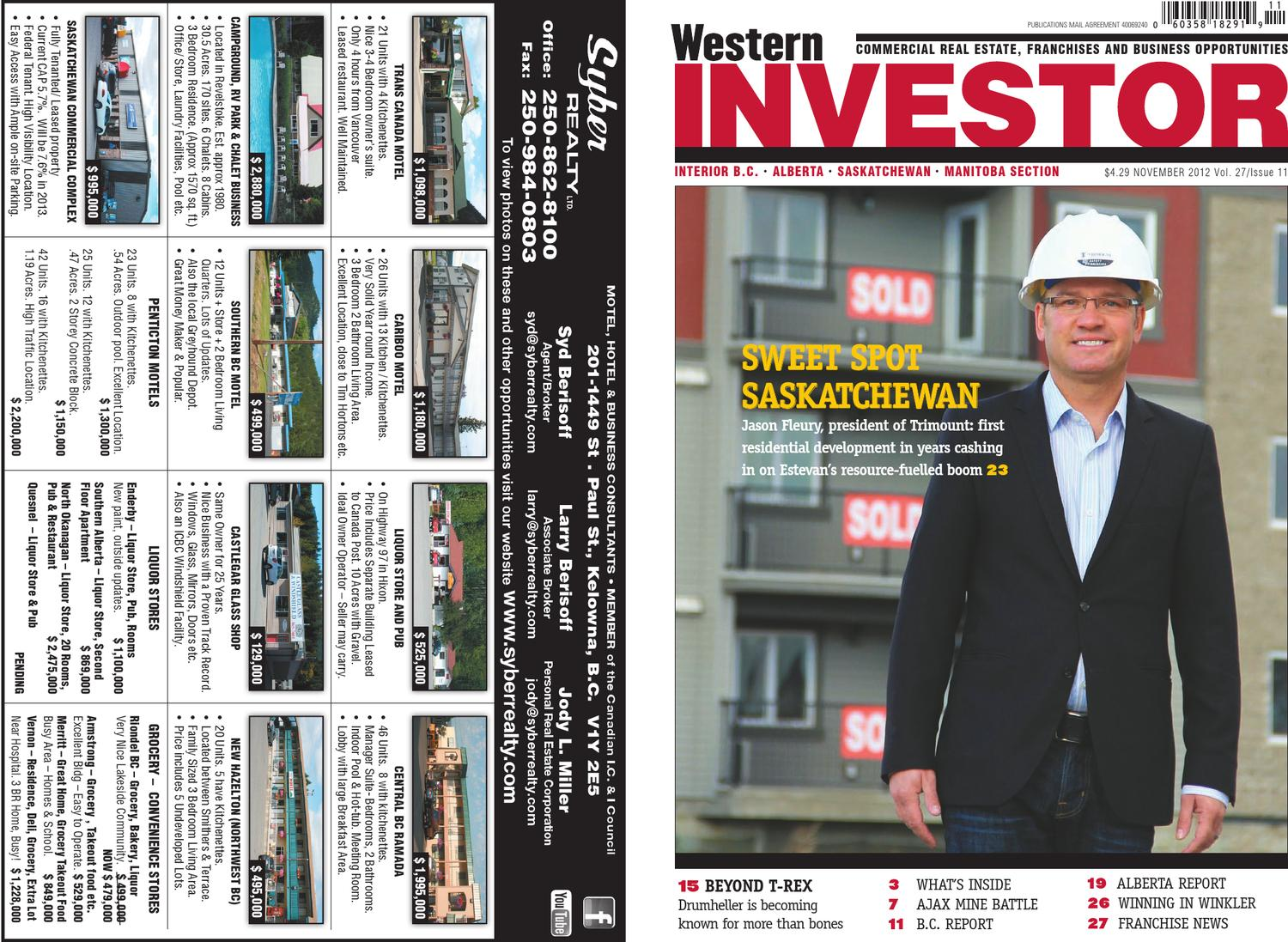 Western Investor November 2012 Section B by Business in Vancouver ... a0038ab86