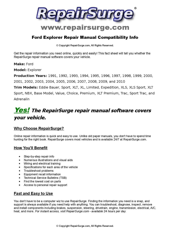 2000 ford explorer xlt manual